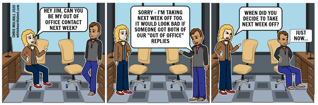 Out-of-office contact (comic)