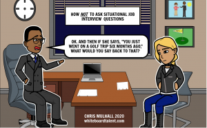 Situational interview questions comic